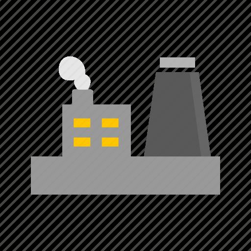 building, estate, factory building, industrial building icon