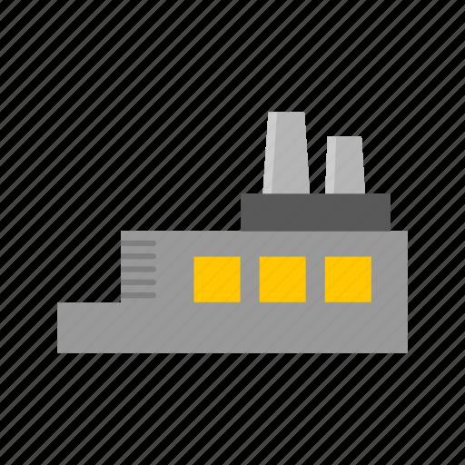 building, factory, industrial building, industrial plant icon