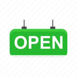 business, open, shop, store tag icon