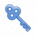 key, padlock, security, unlock icon