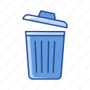 delete, remove, trash bin, trash can icon