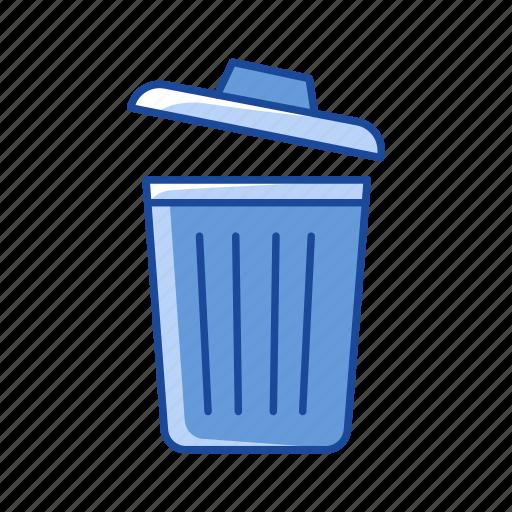 delete, remove, trash bin, trash can icon