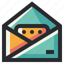 business, email, inbox, message, office icon