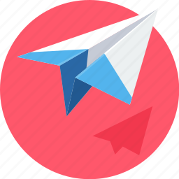 email, mail, paper plane, plane, post, send, work icon