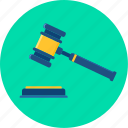 business, court, gavel, hammer, judge, justice, law icon