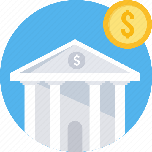 bank, finance, financial, institution, loan, stock, treasury icon