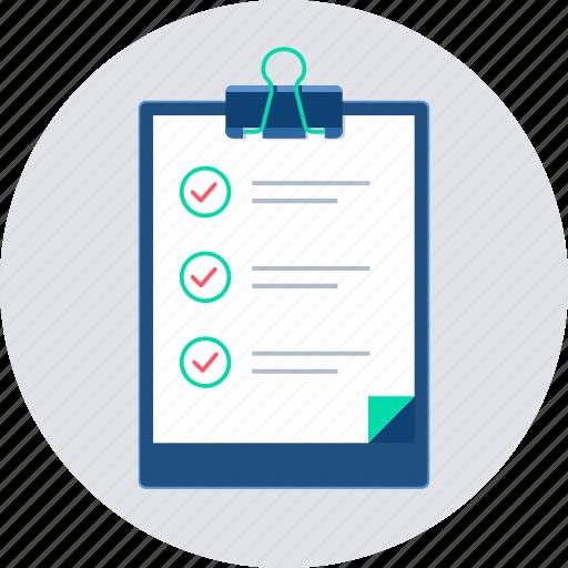 audit, checklist, clipboard, report, survey, testing, work icon