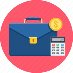 bag, brief, briefcase, business, career, cash, money bag icon