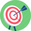 target, center, dart, bullseye, arrow, shooting, goal icon