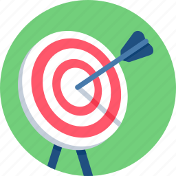 arrow, bullseye, center, dart, goal, shooting, target icon