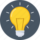 bulb, business, idea, innovation, invention, light, power icon