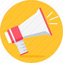 alert, attention, broadcast, loud, megafone, megaphone, promotion icon