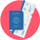 business, business requirements, international, passport, visa icon