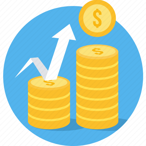 cash, coin, finance, growth, increase, money, revenue icon