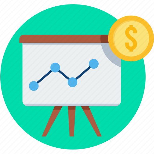 business, chart, diagram, graph, increase, presentation, revenue icon