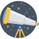astronomy, science, space, telescope, view icon