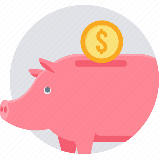 budget, deposit, fund, investment, piggy bank, retirement, savings icon