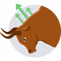 agressive, bullsmarket, market, protest, push market, stock icon
