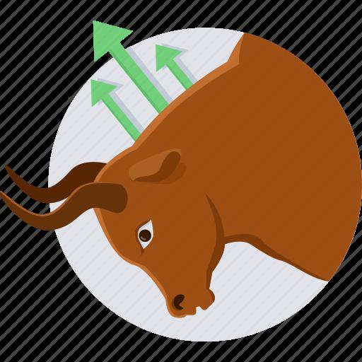 Agressive, push market, bullsmarket, market, protest, stock icon - Download on Iconfinder
