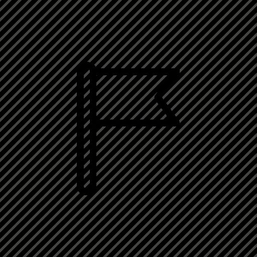 flag, mark, milestone, pin icon
