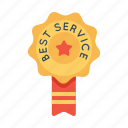 badge, best, label, office, ribbon, service, star icon