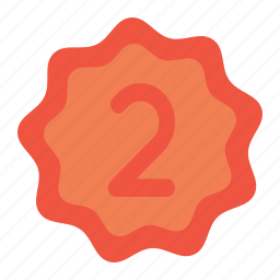 achievement, label, office, position, rank, second, tag icon
