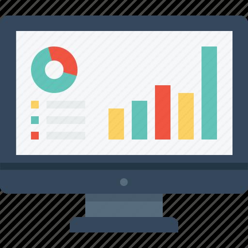 chart, computer, desktop, graph, office, screen, statics icon
