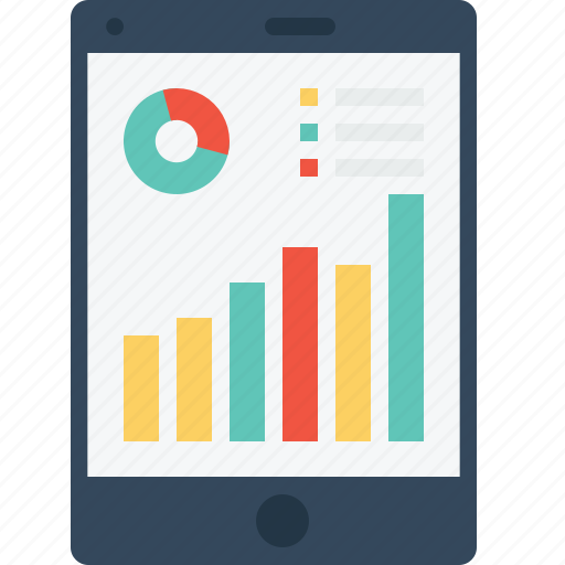 chart, company, graph, performance, profile, tab, tablet icon