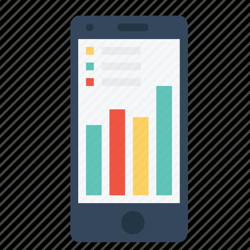 analysis, company, graph, mobile, statics, turnover icon