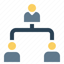 boss, command, company, employee, hierarchy, hybrid, level icon