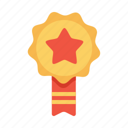 achievement, award, badge, employee, label, office, ribbon icon