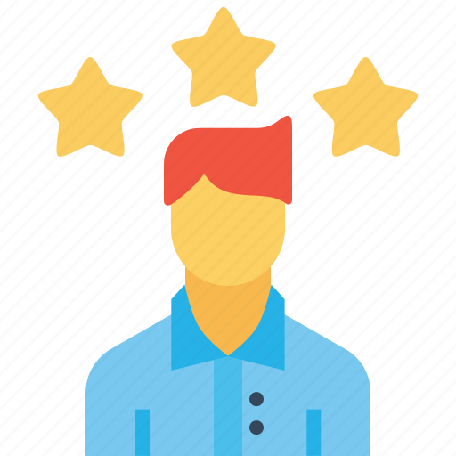 avatar, employee, man, office, person, star, user icon
