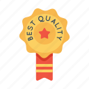 award, badge, best, office, quality, ribbon, star icon