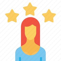 avatar, employee, office, person, star, user, woman icon