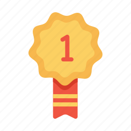 award, badge, first, label, one, position, tag icon