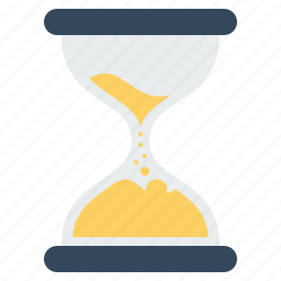 hourglass, office, salt, stopwatch, time, timer, watch icon