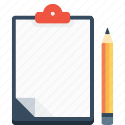 letter, letterpad, notes, office, pencil, write, writingpad icon