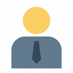 avatar, corporate, employee, man, office, person, user icon