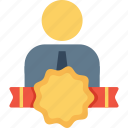 avatar, award, badge, employee, office, person, user icon
