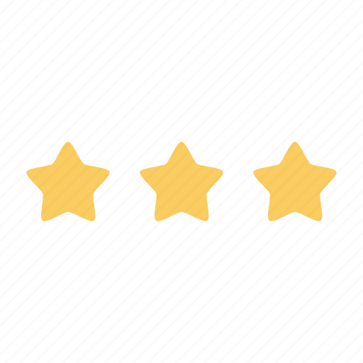 achievement, business, office, rank, star, stars, three icon