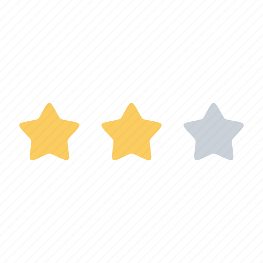 achievement, business, office, rank, star, stars, two icon