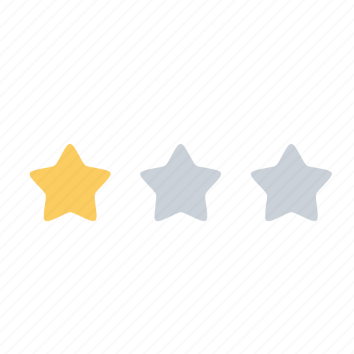 achievement, business, office, one, rank, star, stars icon