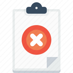 cancel, candidate, letterpad, office, reject, resume, writingpad icon