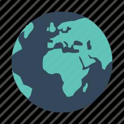 earth, global, globe, international, map, planet, world icon
