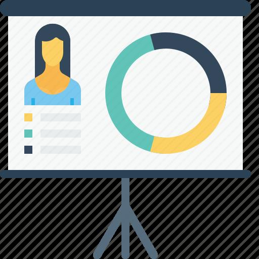 bio, business, chart, employee, office, performance, statics icon