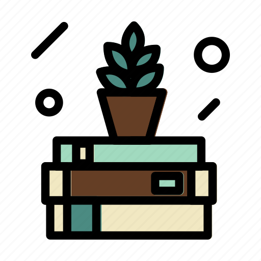 books, encyclopedia, plant, read, report, research icon