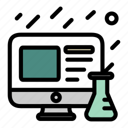 berzelius, computer, experiment, monitor, screen, ux, website icon