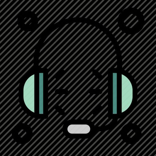 headphones, hear, listening, microphone, music, sound icon