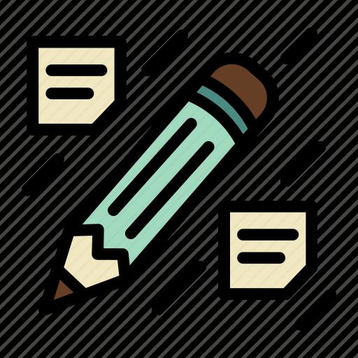 crayon, idea, notes, pencil, post-it, writing icon