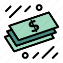 cash, dollar, money